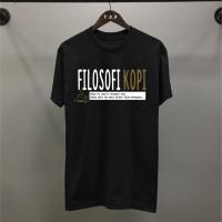 T-shirt Kopi Filo / Baju Kaos Distro Pria Wanita Hitam Cotton 30s