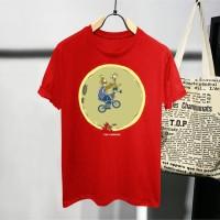 T-shirt Simpson Emosi / Baju Kaos Distro Pria Wanita Hitam Cotton 30s