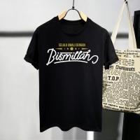 T-shirt Awali Bismillah / Baju Kaos Dakwah Pria / Kaos Islamic Pria
