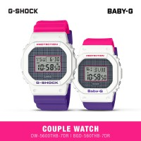 Jam Tangan Digital Casio Couple DW-5600THB-7DR & BGD-560THB-7DR