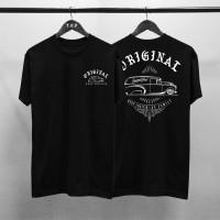T-shirt Mobil Original / Baju Kaos Distro Pria Wanita Hitam Cotton 30s