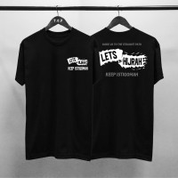 T-shirt Lets Hijrah / Baju Kaos Dakwah Pria / Kaos Islamic Pria