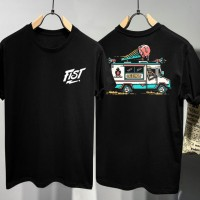 T-shirt Fist Ice Cream / Baju Kaos Distro Pria Wanita Hitam Cotton 30s