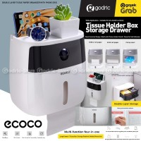 ECOCO Kotak Tisu Toilet Waterproof Rak Tempat Tissue WC Box Organizer
