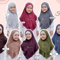 Khimar Freya Kids size M by Maura Jilbab Anak Kaos Premium Daily Adem