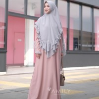 AMILY DINAR SET CLOUD CORAL GAMIS SET KHIMAR