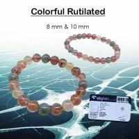 Gelang Crystal Healing Colorful Rutilated Stone (GBP198)