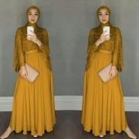 Gamis Maxi / Baju Dress Wanita Muslim Chikita + Cape Tile Mutiara HQ