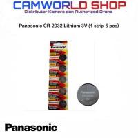 Panasonic CR-2032 Lithium 3V - Battery Panasonic CR-2032 1Strip