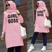 Damai fashion jakarta - baju wanita tunik muslim GIRL BOSS