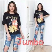 Damai fashion - baju atasan KAOS JUMBO - big size LION LION