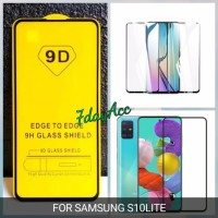 SAMSUNG S10 LITE TEMPERED GLASS FULL COVER QUALITAS 9H GALAXY S10LITE