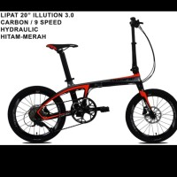 Sepeda Lipat Carbon Pacific illution 3.0 Hydroulic 20,inch