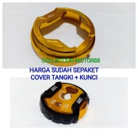 COVER TUTUP TANGKI NMAX PLUS KUNCI FULL CNC GOLD