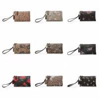 Tas wanita cewek clutch dompet mini bunga import coach flower hayden