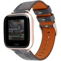 LV damier strap fitbit versa leather fashion tali jam tangan kulit