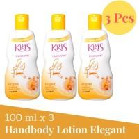 Kris Handbody Lotion 100ml banded 3pcs Pelembap Kulit - Elegant Kuning