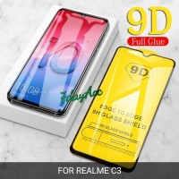 REALME C3 ANTI GORES KACA TEMPERED GLASS FULL COVER 9D / 21D