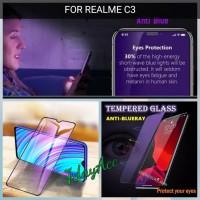 REALME C3 ANTI GORES KACA TEMPERED GLASS BLUE RAY / BLUE LIGHT 9H