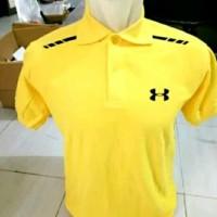 Kaos/Polo shirt/Tshirt Kaos Kerah Under Armour Stripe Logo Club Sport