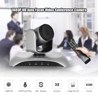 Aibecy 1080P HD Conference Camera USB Plug & Play 3X Zoom 360°