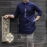 baju Koko Pakistan/Koko Qurta Lis panjang navy-M