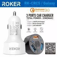 Saver Roker Galaxy 3.0A Qualcomm 33W Car Charger Galaxy Fast Charging