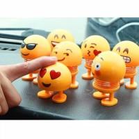 R152 Boneka Emoticon Goyang Kepala Emoji Spring