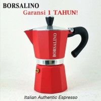 Borsalino Cottura Moka Pot Coffee Maker for 6 Cups