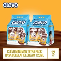 Clevo UHT Rs Ice Cream Cklt - 125ml / 2 Bag By Garudafood