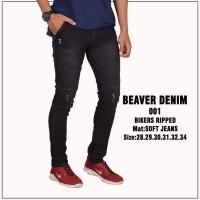 Celana bikers/celana jeans ripped/celana sobek pria/cowik