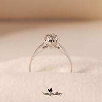Cincin Berlian Heart - Ivana Jewellery