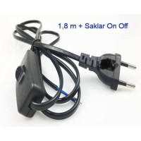 Kabel Saklar ON OFF Hitam / Kabel AC Saklar / Kabel Switch Lampu