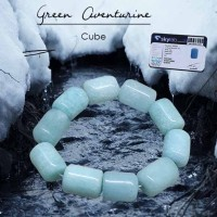 Gelang Crystal Healing Green Aventurine Stone Cube (GBP200)