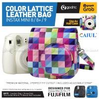 Fujifilm Leather Bag Polaroid Fuji Instax Mini 9 & 8 Tas Lattice Case