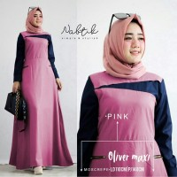 Gamis Maxi / Baju Dress Wanita Muslim Oliver Rok Mayung Good Quality