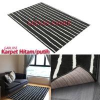 Karpet Lantai Minimalis Hitam Putih 133x195cm