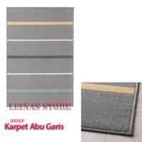 Karpet Minimalis Bulu Tipis Motif Garis 120x180cm