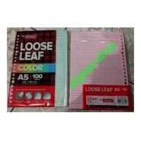 isi kertas buku binder note big boss loose leaf color A5 210 x 150 mm