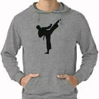 Hoodie Swester Baju Hangat Zipper Karate Kick