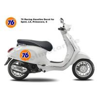 Sticker 76 Racing Gasoline Vespa Spint LX Primavera Cafe Racer Jap