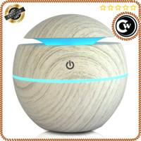 Ultrasonic Humidifier Aroma Essential Oil Diffuser Wood Design 130ml