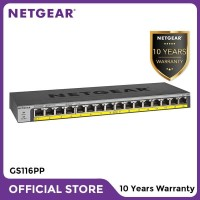 Netgear GS116PP 16 Port Gigabit PoE+ Unmanaged Switch for IP Camera