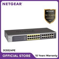 Netgear JGS524PE 24 Port Gigabit PoE Smart Managed Plus Switch