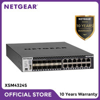 Netgear XSM4324S Stackable Managed Switch with 24 Port x 10G Layer 3