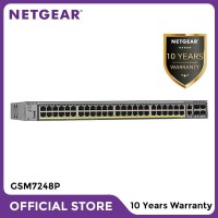Netgear GSM7248P 48 Port Fully Managed PoE+ Gigabit L2+ Switch