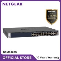 Netgear GSM4328S 24x1G Stackable Managed Switch 2x10GBASE-T and 2xSFP+
