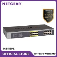 Netgear JGS516PE 16 Port Gigabit PoE Smart Managed Plus Switch