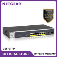 Netgear GS510TPP 8 Port Gigabit PoE+ Smart Managed Pro Switch