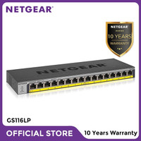 Netgear GS116LP 16 Port Gigabit PoE+ Unmanaged Switch for IP Camera